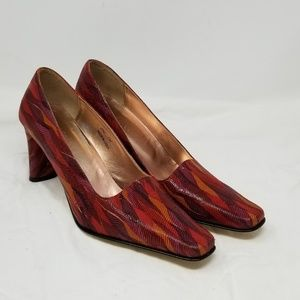 J. RENEE multi colored Pump Square Toe
